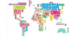 Carte monde noms des pays